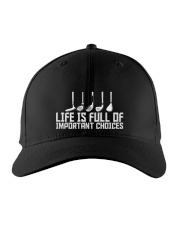 Golf Life is Full Of Important Choices Embroidered Hat front