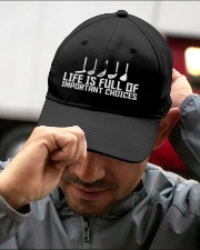 Golf Life is Full Of Important Choices Embroidered Hat garment-embroidery-hat-lifestyle-01