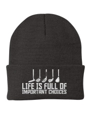 Golf Life is Full Of Important Choices Knit Beanie thumbnail