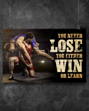 Wrestling You Never Lose Poster 17x11 Poster aos-poster-landscape-17x11-lifestyle-12