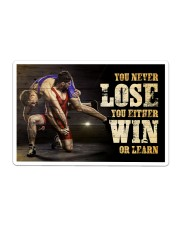 Wrestling You Never Lose Poster Sticker - Single (Horizontal) thumbnail