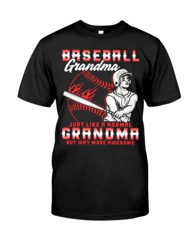 Baseball Grandma Just Like A Normal Grandma