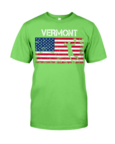 Vermont State Basketball American Flag