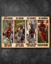 Lacrosse Be Strong 17x11 Poster aos-poster-landscape-17x11-lifestyle-12