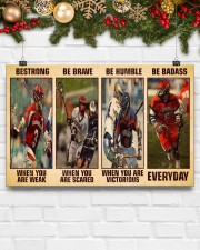 Lacrosse Be Strong 17x11 Poster aos-poster-landscape-17x11-lifestyle-28