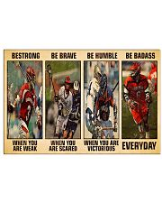 Lacrosse Be Strong 17x11 Poster front
