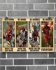Lacrosse Be Strong 17x11 Poster poster-landscape-17x11-lifestyle-18