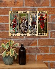 Lacrosse Be Strong 17x11 Poster poster-landscape-17x11-lifestyle-23