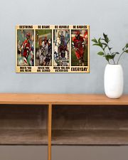Lacrosse Be Strong 17x11 Poster poster-landscape-17x11-lifestyle-24