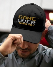 Game Over Retired 2021 Orange Embroidered Hat garment-embroidery-hat-lifestyle-01