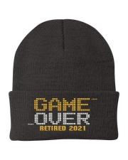 Game Over Retired 2021 Orange Knit Beanie thumbnail