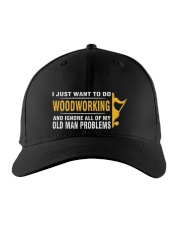 Woodworking Old Man Problems Embroidered Hat front