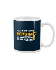 Woodworking Old Man Problems Mug tile