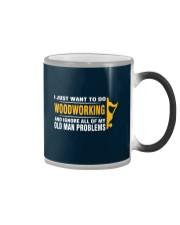 Woodworking Old Man Problems Color Changing Mug tile