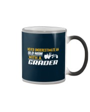 Old Man With A Grader Color Changing Mug thumbnail