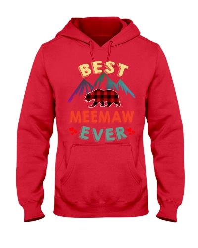 Best Meemaw Bear Ever Xmas Red Plaid