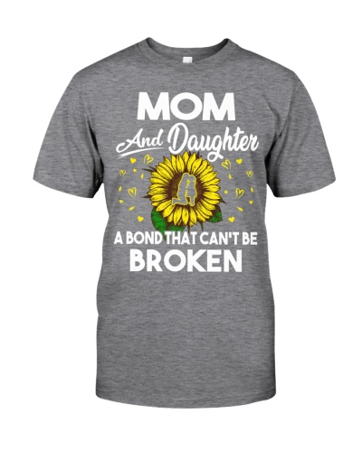 Mom And Daughter Can't Be Broken Couple Sunflower