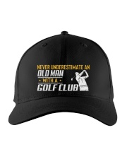 Old Man With A Golf Club Embroidered Hat front