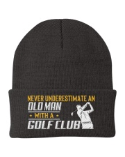 Old Man With A Golf Club Knit Beanie thumbnail