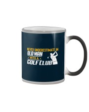 Old Man With A Golf Club Color Changing Mug thumbnail