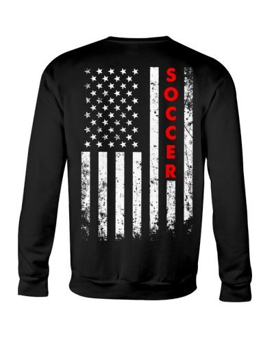 Soccer American Flag Backside