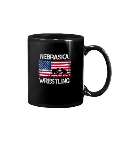 Nebraska Wrestling American Flag