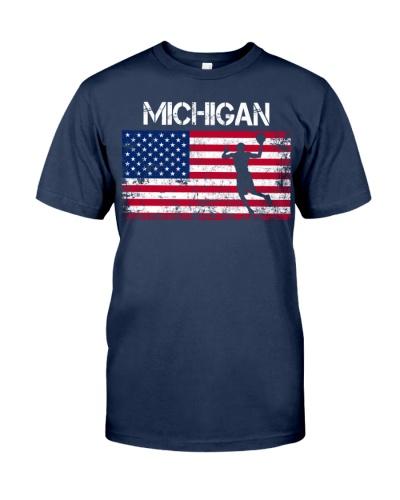 Michigan State Basketball American Flag