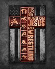 Wrestling Boy Usa Flag Poster 11x17 Poster aos-poster-portrait-11x17-lifestyle-12