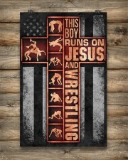 Wrestling Boy Usa Flag Poster 11x17 Poster aos-poster-portrait-11x17-lifestyle-14