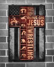 Wrestling Boy Usa Flag Poster 11x17 Poster aos-poster-portrait-11x17-lifestyle-18