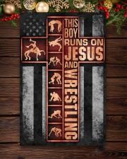 Wrestling Boy Usa Flag Poster 11x17 Poster aos-poster-portrait-11x17-lifestyle-22