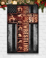 Wrestling Boy Usa Flag Poster 11x17 Poster aos-poster-portrait-11x17-lifestyle-23