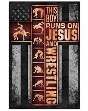 Wrestling Boy Usa Flag Poster 11x17 Poster front