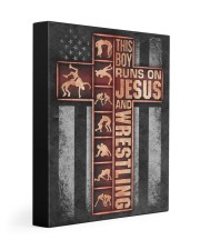 Wrestling Boy Usa Flag Poster Gallery Wrapped Canvas Prints tile