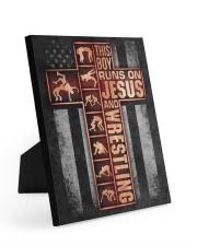 Wrestling Boy Usa Flag Poster Easel-Back Gallery Wrapped Canvas tile