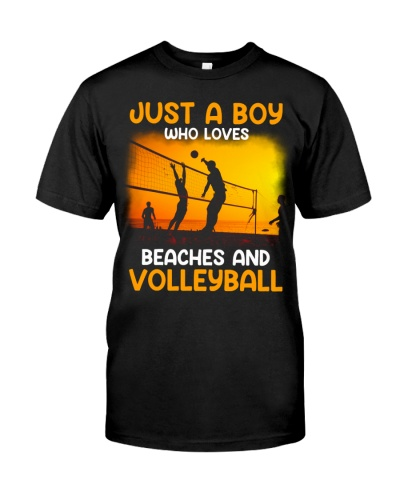 Boy Loves Beaches and Volleyball