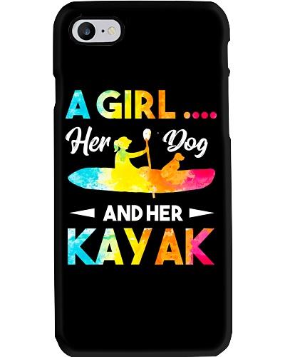 Girl Kayak Dogs Lovers
