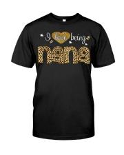 I Love Being Nana Leopard Print Fashion Classic T-Shirt front
