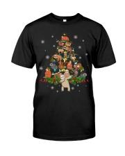 Sloth Christmas Tree Lights Sloth Xmas Classic T-Shirt front