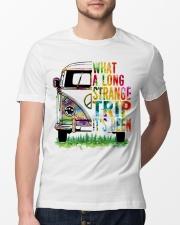 What A Long Strange Trip It Been Hippie Van Classic T-Shirt lifestyle-mens-crewneck-front-13