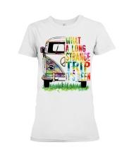 What A Long Strange Trip It Been Hippie Van Premium Fit Ladies Tee thumbnail