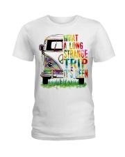 What A Long Strange Trip It Been Hippie Van Ladies T-Shirt thumbnail