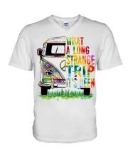 What A Long Strange Trip It Been Hippie Van V-Neck T-Shirt thumbnail