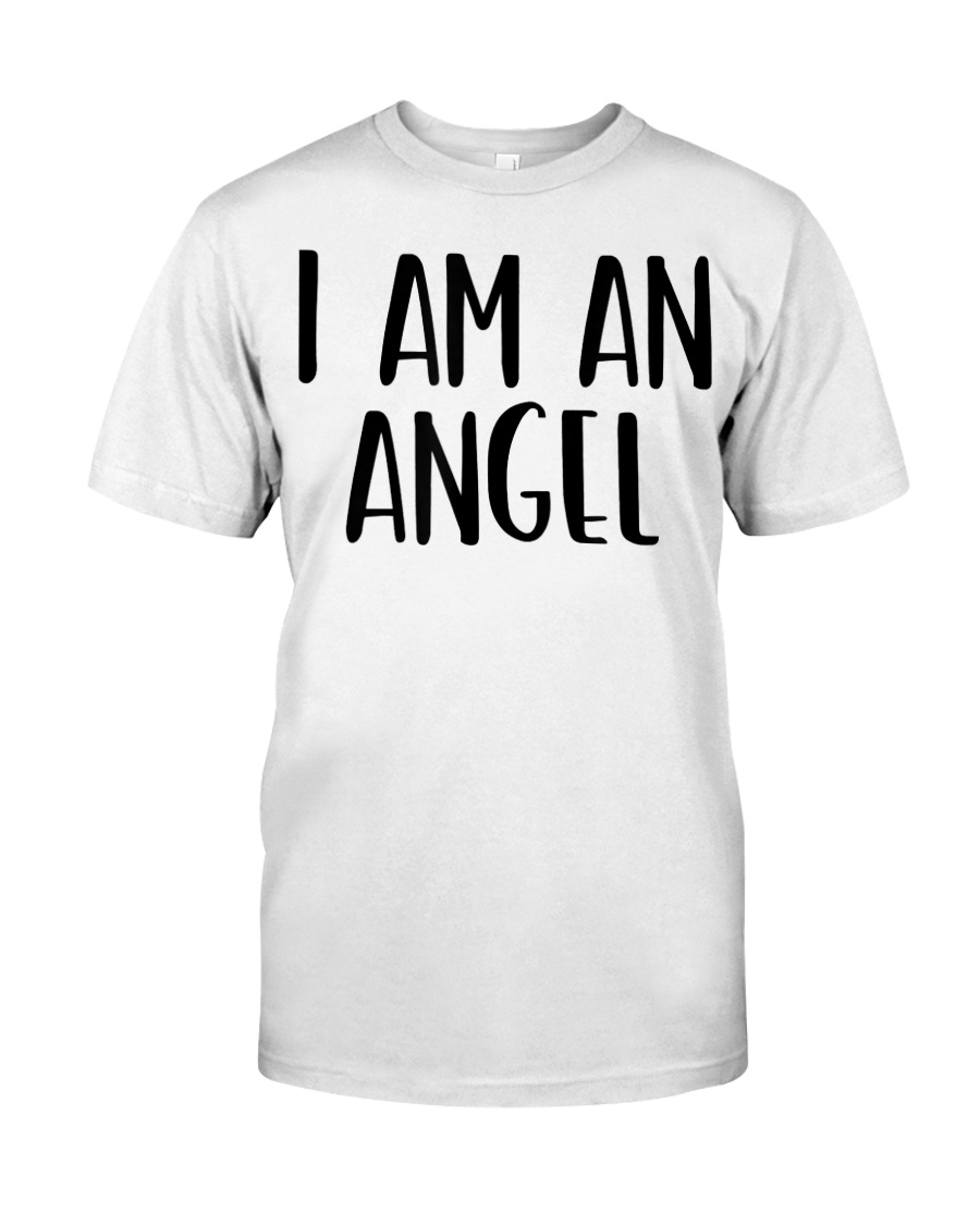 I Am A Angel Costume Halloween Im Lazy Easy Last  Classic T-Shirt
