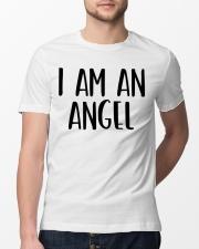 I Am A Angel Costume Halloween Im Lazy Easy Last  Classic T-Shirt lifestyle-mens-crewneck-front-13