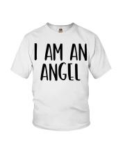 I Am A Angel Costume Halloween Im Lazy Easy Last  Youth T-Shirt thumbnail