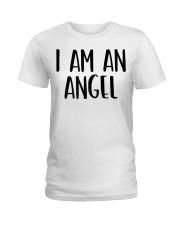 I Am A Angel Costume Halloween Im Lazy Easy Last  Ladies T-Shirt thumbnail