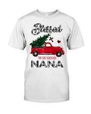 Blessed To Be Called Nana Christmas Red Truck  Classic T-Shirt front