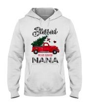 Blessed To Be Called Nana Christmas Red Truck  Hooded Sweatshirt thumbnail