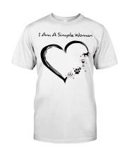 I Am A Simple Flip Flops Dog Wine Horse Classic T-Shirt front